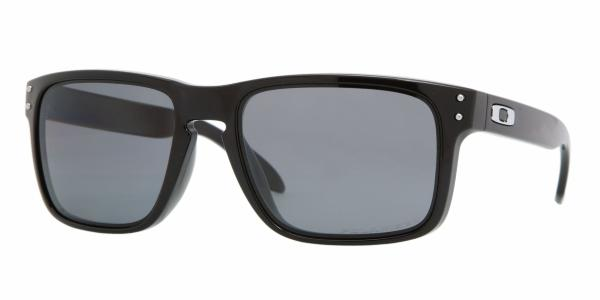 e32291fc9d8 Oakley Holbrook Glasses - Polished Black grey Polarized